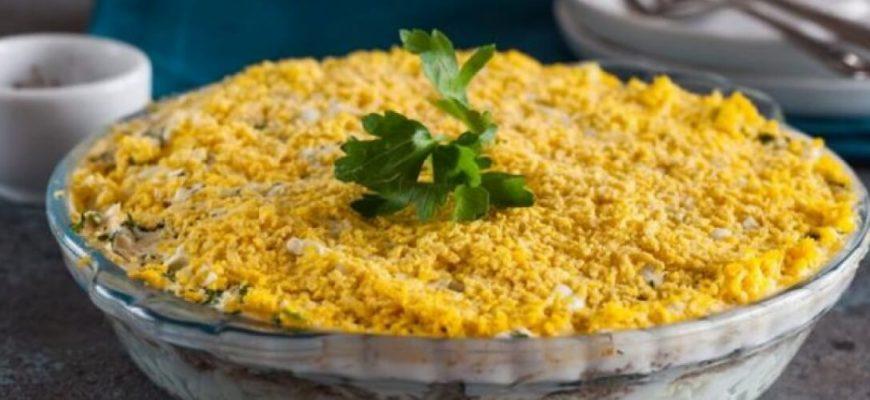 Очень нежный и вкусный салат мимоза по классическому рецепту