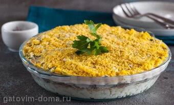 Салат мимоза по классическому пошаговому рецепты с фото