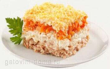 Приготовление салат с красной рыбой для полезного питания