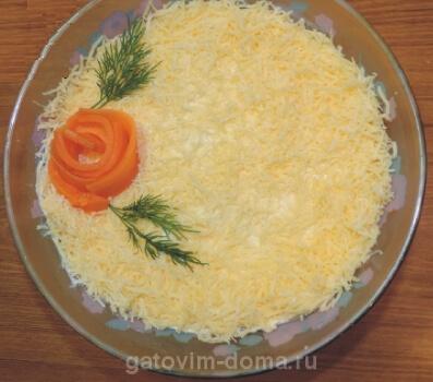 Как приготовить вкусный салат мимоза с сайрой и яблоками