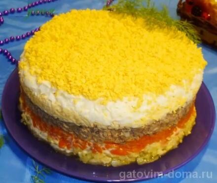 Рецепт с пошаговыми фото для салата Мимоза с сайрой и сыром