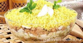 Как приготовить очень вкусный салат мимоза с сайрой