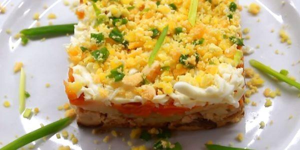Рецепты салата Мимоза с горбушей