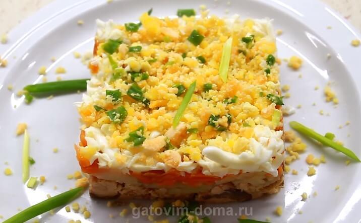 Готовим праздничный салат Мимоза с горбушей по классическому рецепту