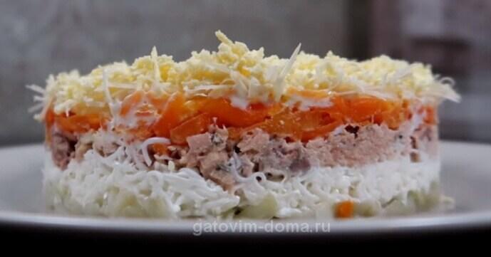 Как приготовить салат мимоза с горбушей и сыром и маслом