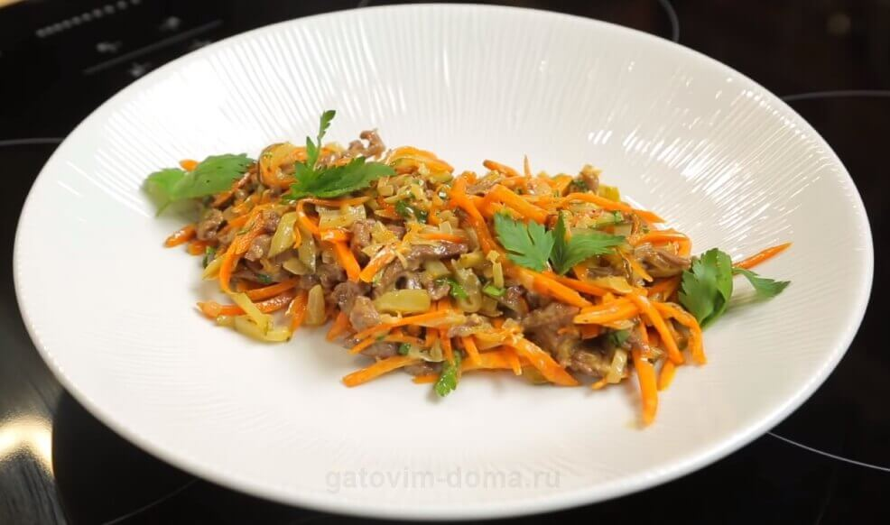 классический рецепт приготовления салата Обжорка