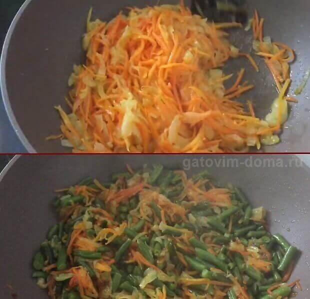 Обжаренная морковка с фасолью для приготовления салата Обжорка