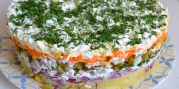 Пошаговые рецепты приготовления салата Обжорка с курицей