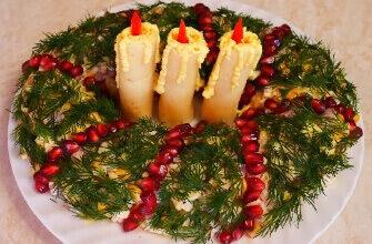 Новинки новогодних салатов с пошаговыми рецептами