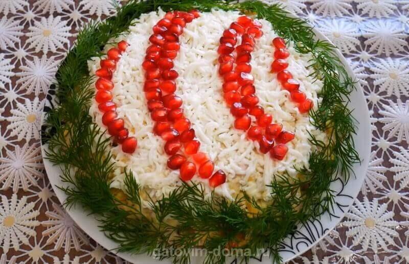 Рецепт нового вкусного и красивого салата новогодний шар для праздничного стола
