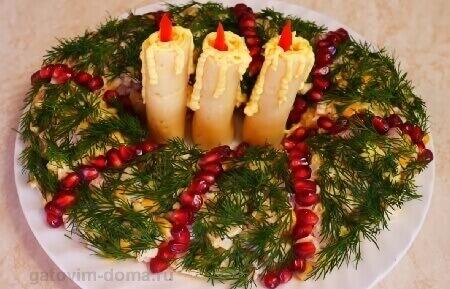 Как приготовить красивый и вкусный новый салат на Новый год 2021