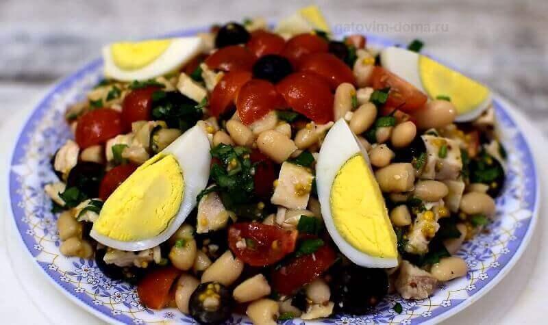 Готовим дома по особому рецепту новейший легкий салат с фасолью на новый год