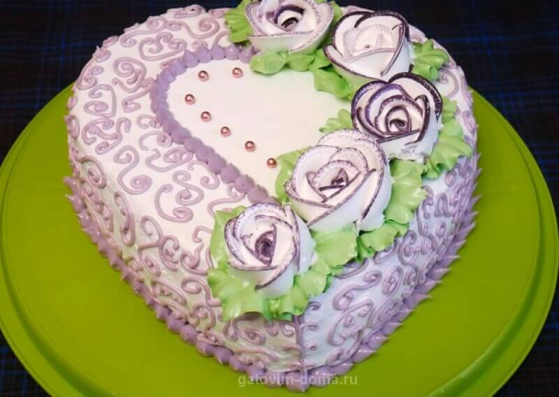 Создаем безумно красивое оформление торта на день святого Валентина
