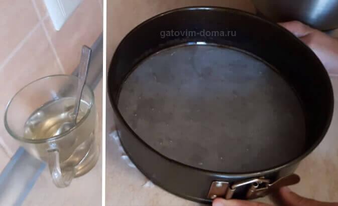 Специальная ванильная пропитка для коржей торта и круглое формовочное кольцо