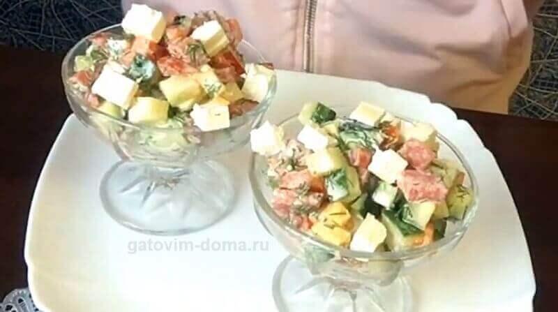 Простой рецепт приготовления бесподобно вкусного салата ко дню влюбленных