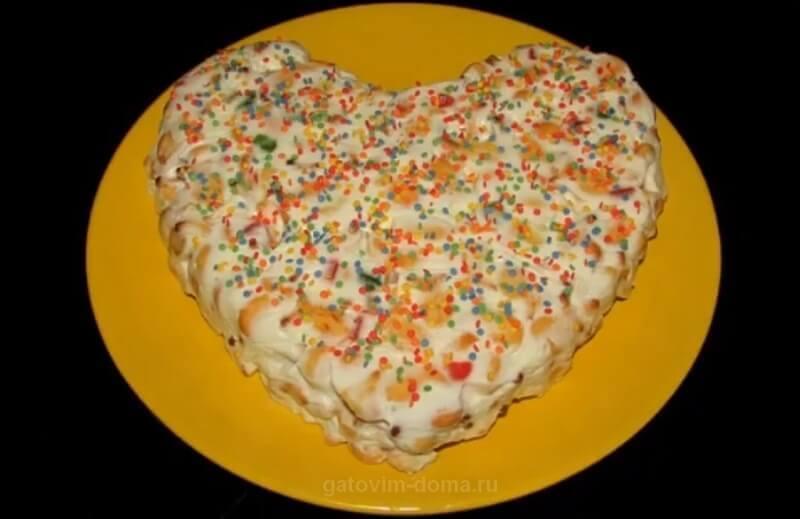Готовим дома вкусный и простой торт на 14 февраля без выпечки