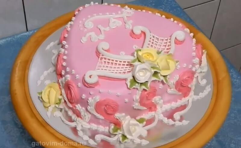 Создаем домашнее украшение торта на 14 февраля своими руками