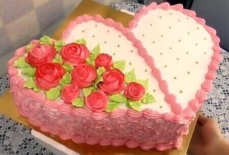 Домашнее украшение торта на 14 февраля своими руками любимому