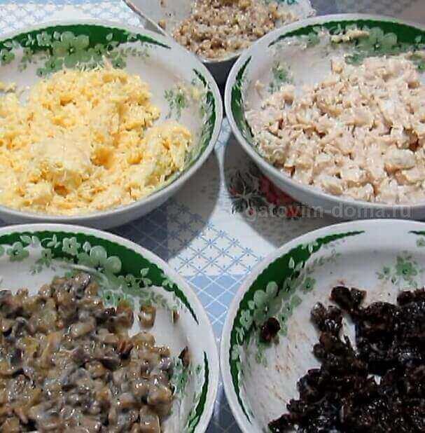 Основные ингредиенты в майонезе для приготовления салата
