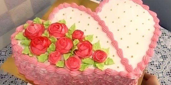 Как красиво украсить торт ко дню влюбленных