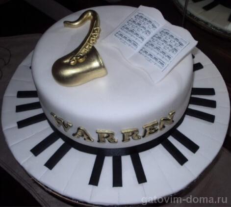 Десерт в музыкальном оформлении на международный день торта