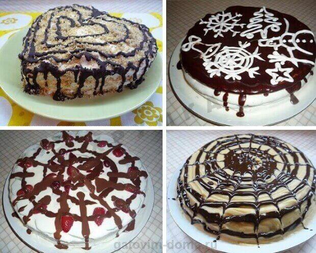 Красивые праздничные торты с шоколадной помадкой