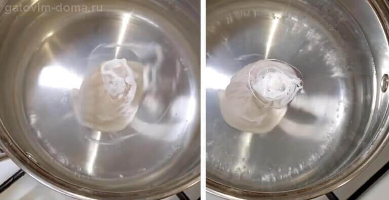Варим яйцо Пашот в кастрюле с водой по классическому способу