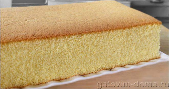 Бисквит для выпечки тортов и пирогов