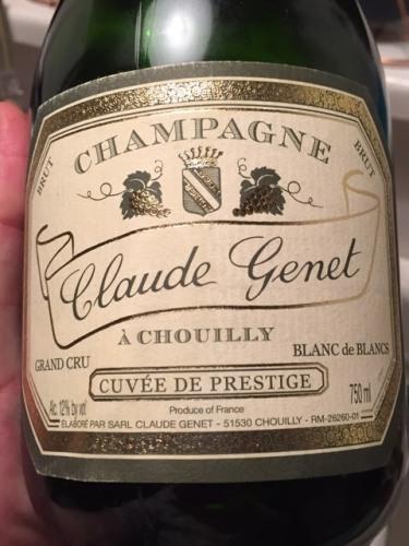 Claude Genet - Cuvée de Prestige Blanc de Blancs Brut Champagne Grand Cru 'Chouilly'