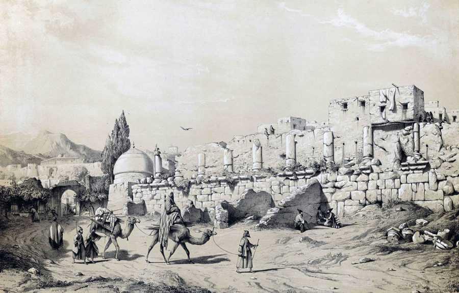 Изображение Древней Персии с жителями